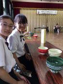 心づくしのお弁当をいただいた後は、お抹茶とお煎茶のO・Mo・Te・Na・Shi.