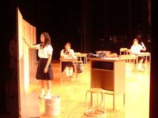 演劇部のステージ
