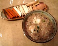 小豆ご飯を使った七草粥