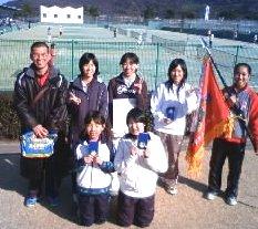 中学女子テニス部